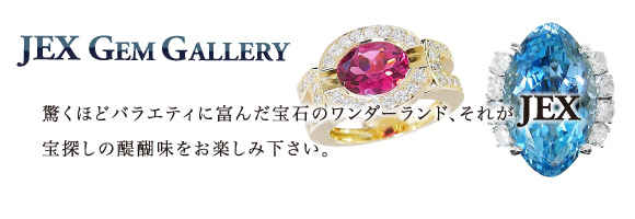 JEX Gem Gallery - It's a wonderland of various Jewelry that amaze you.  We invite you to a tour of the treasure hunt.